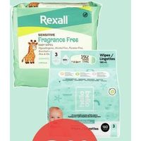 Rexall Brand, Aleva, Hello Bello, Kandoo or Live Clean Baby Wipes