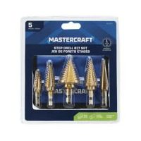 Mastercraft 5-Pc Titanium-Coated Step Drill Set