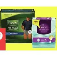 Depend Underwear, Guards or Shields or Poise Pads