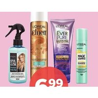 L'oreal Studio Line or Elnett Styling, Ever Hair Care or Magic Refresh Dry Shampoo