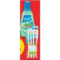 Crest Scope Mouthwash or Colgate Value Pack Manual Toothbrushes