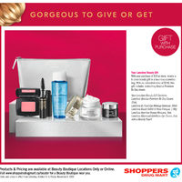 Shoppers Drug Mart - Beauty Boutique Locations Only - Gorgeous To Give or Get Flyer