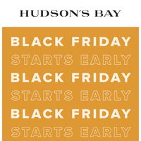 The Bay - Black Friday Starts Early Flyer