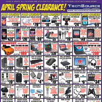 Tech Source - April Spring Clearance Flyer