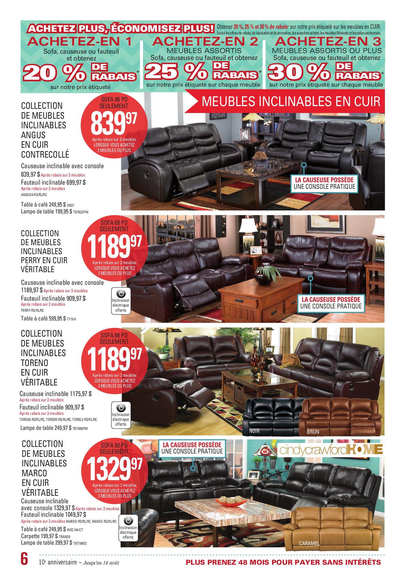 The Brick Weekly Flyer C Est Notre 10e Anniversaire Au Quebec