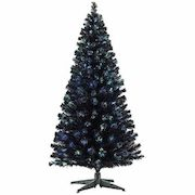 Canadian Tire Noma Black Pre Lit Led Fibre Optic Christmas Tree 6