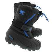 Boys' FLURRY Black/blue Pull-on Winter Boots - $39.99 (38% off)