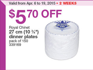 Costco: Royal Chinet 27 cm (10 3/4\