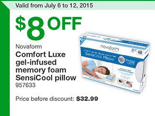 Costco: Novaform Comfort Luxe Memory Foam Pillow - RedFlagDeals.com