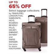 Select Luggage Collections By Travelpro, London Fog, Samsonite, Heys, Ricardo Beverly Hills, Delsey, Eminent, Skyway & Swiss Wenge