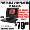 Portable DVD Player W/Games - $79.99