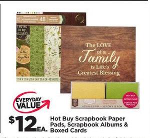 Michaels: Hot Buy Scrapbook Paper Pads, Scrapbook Albums