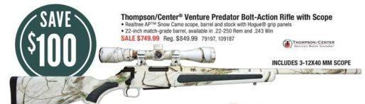 Cabelas: Thompson/Center Venture Predator Bolt-Action Rifle with