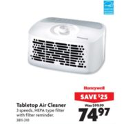 Honeywell Tabletop Air Cleaner - $74.97 (Save $25.00)