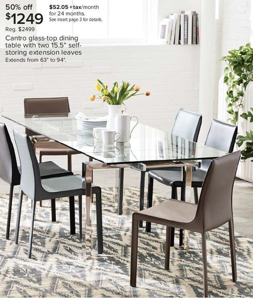 5c642e0c7b954 The Bay Cantro Glass-Top Dining Table with 2 15.5