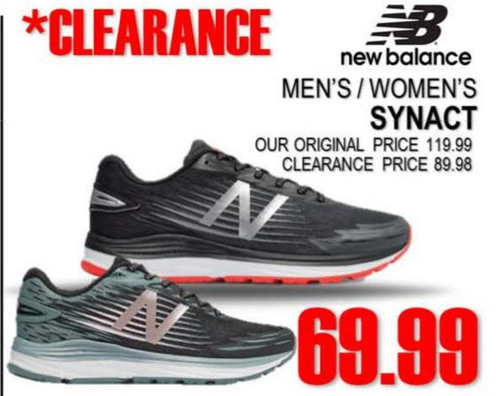 c5d88bbc3 National Sports New Balance Men's/Women's Synact - $69.99 New Balance Men's/ Women's Synact