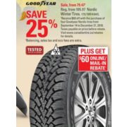 Goodyear Nordic Winter Tire >> Canadian Tire Goodyear Nordic Winter Tires Redflagdeals Com