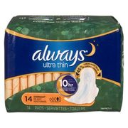 Always Pads, Liners or Tampax Tampons - $3.48