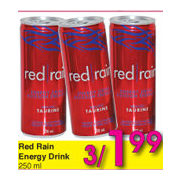 Red Rain Energy Drink - 3/$1.99