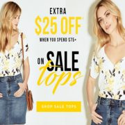 Le Chateau: EXTRA $25 Off $75+ Purchase on Sale Tops