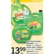 Gain Liquid Laundry Detergent, Flings, Gain Or Downy Fabric Softener Or Fabric Enhancers - $13.99