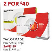 Taylormade Projects - 2/$40.00 ($19.00 off)