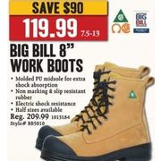 "Big Bill 8"" Work Boots - $119.99 ($90.00 off)"