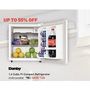 Danby 1.6 Cubic Ft Compact Refrigerator  - $98.00 ($120.00 off)