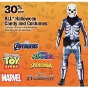 All Halloween Candy and Costumes - 30% off