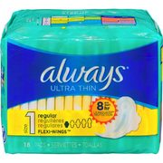 Always Pads Liners or Tampax Tampons or U by Kotex Pads Liners or Tampons - $3.99