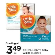 Compliments Baby Wipes  - Starting at $3.49