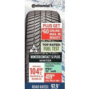 Continental Wintercontact SI Plus Winter Tires - $104.99 (25% off)