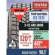 Michelin X-Ice And Snow Winter Tires - $120.49