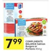 Compliments Balance Salmon Burgers Or Portions  - $7.99