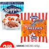 Hawkins Cheezies, Healthy Crunch Kale Chips or Snappers Clusters  - $3.99